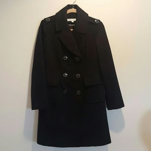 Kenneth Cole Double-Breasted Wool Blend Coat